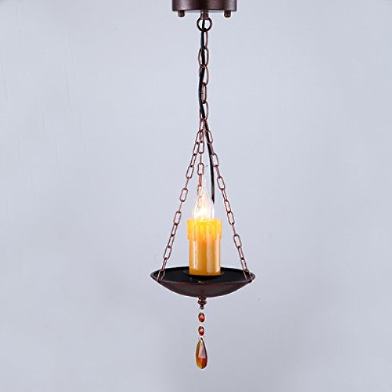 Ywyun Amerikanischen rustikalen antiken Ein-Kopf-Kronleuchter, einfache LED energiesparende Decke, Retro-Gang-Bar dekoriert Hngeleuchten