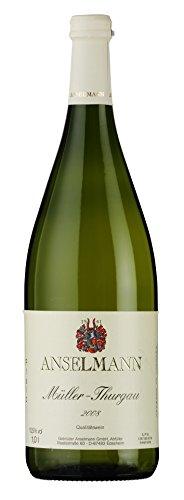 6 x Müller-Thurgau 1l mild 2018 Weingut Anselmann, milder Weisswein aus der Pfalz