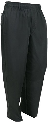 Mercer Culinary M60050BK6X Millennia Men's Cook's Pants, 6X-Large, Black