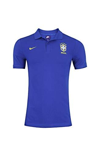 Camisa Polo Nike Brasil 2018 Azul Masculina G