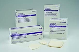Kendall AMD Antimicrobial Foam Dressing 4 x 4 Box: 10 by Kendall/Covidien