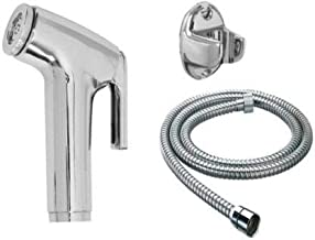 Unique Creation Toilet Conti Faucet Set with 1.5 Meter Flexible Chain Health Faucet (Single Handle Installation Type)