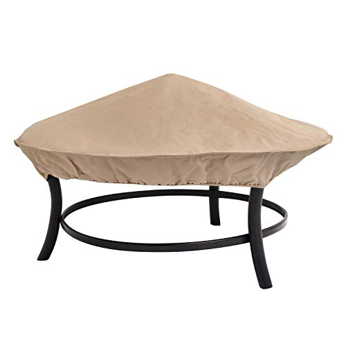 Modern Leisure Water-Resistant, 35 in Patio Fire Pit Cover, Beige