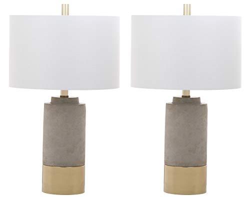 Safavieh LIT4451A-SET2 Lighting Collection Brown Grey Table Lamp