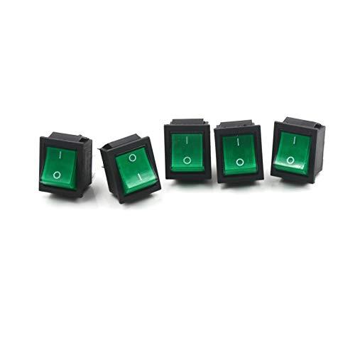 YSYSPUJ 5 PCS 16A / 250V 20A / 125V KCD4-201 Interruptor de la lámpara de 4 Pin ON/Off 2 POSICIÓN DPST Rocker Switch Tools (Color