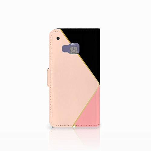 B2Ctelecom Bookcase für das HTC One M9 - Magnetische Kunstleder Handyhülle zum selbst gestalten mit Motiv