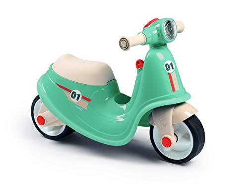 Smoby Moto Scooter Correpasillos Azul, con Llave de Contacto Mecánica, para Niños a Partir de 18 Meses (721006)