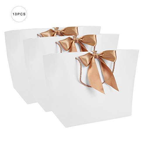10 stks/partij Gift Present Papieren Tassen Met Handvat voor Kleding Winkelen Make-up Verpakking Voedsel 37 * 11 * 25cm