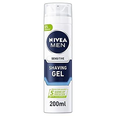 NIVEA Men Sensitive Shave Gel 200ml, Pack of 6 from Beiersdorf UK Ltd