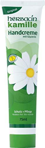 herbacin wuta kamille 82141 Herbacin Handcreme + Glyzerin Tube 75 ml, 12er-Pack (12 x 75 ml)