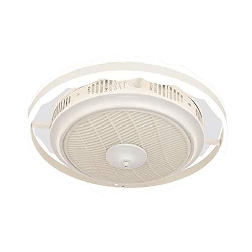 Ventilador de techo con luz y función de control remoto, dispositivo de iluminación LED de tres tonos, rueda guía de viento circular de 360 °, velocidad / sincronización / silencio ajustable