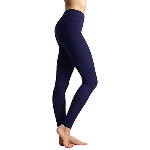 B/H Leggings Push Up para Mujer,Cintura Alta sin Costuras para Mujer Pantalones de Yoga de moda-2blue_XXL