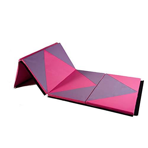 ZENOVA Gymnastic Mats 4'x8'x2''/4'x10'x2'' Folding Tumbling Mats Thick Exercise Mats Home Workout...