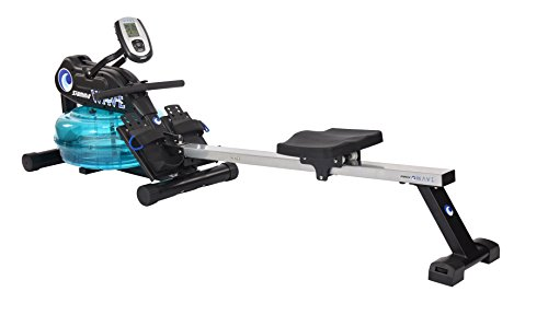Stamina 'New and Improved' Elite WAVE Water Rower - Rowing Machine 1450 w/Heart Rate Sensor for Customized Workouts