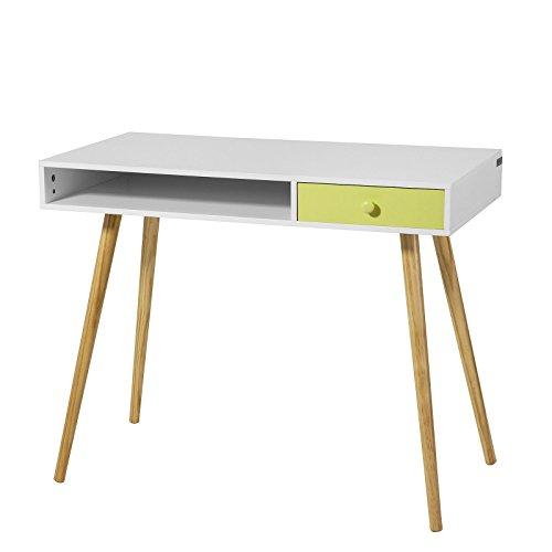 SoBuy® FWT24-W Schreibtisch Bürotisch Computertisch Kinderschreibtisch mit Schublade, BHT ca:90x73x46cm