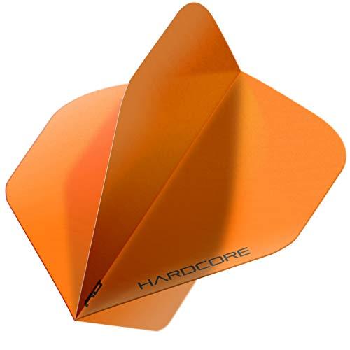 RED DRAGON Hardcore XT Colours Extra Thick Standard Dart Flights - 5 Sets Per Pack (15 Dart Flights in total) (Orange)