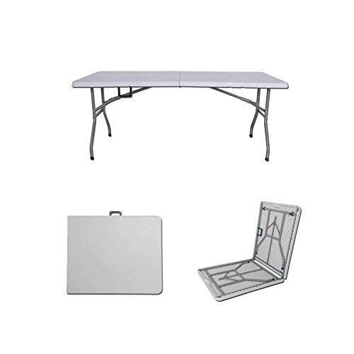 AWJ Mesa plegable Mesa de comedor Mesa de trabajo Mesa de ordenador Hogar al aire libre Puesto portátil multifunción simple rectángulo aprender escritorio