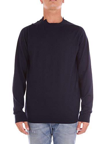 Mauro Grifoni Luxury Fashion Mens Sweater Summer Blue