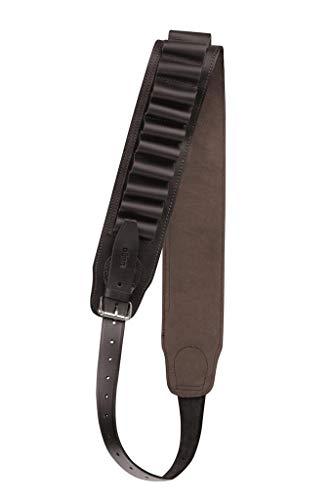 Dörr Correa de piel para cartuchos, calibre 12, marrón oscuro, para 24 cartuchos