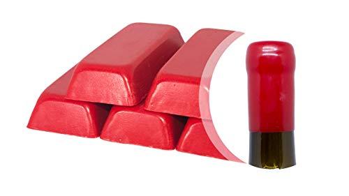 Generico Confezione da 500 gr. di gommalacca Rossa o ceralacca Morbida per sigillare Bottiglie di Vino, Birra, Grappa, liquori (Rosso, 500)