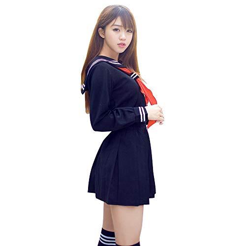 fagginakss Mujer Disfraz de Japonesa Cosplay Traje de Marinero JK Uniformes Escolares Japoneses y Coreanos Estilo Británico para Chicas Estudiante