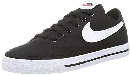 Nike Court Legacy Canvas, Zapatos de Tenis Hombre, Black/White, 47 EU