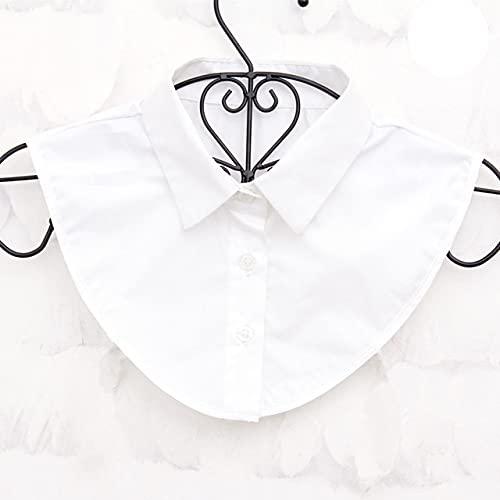 Vintage hable camisa de cuello falso cuello falso blanco negro blusa de mujer solapa cuello el¨¢stico corbata ropa de mujer Accesorios-9