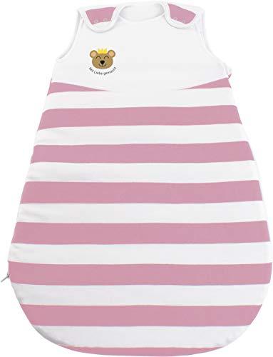 Saco de dormir y pelele del proveedor de clínicas n.º 1, para edades de 0 a 12 meses, certificado Öko-Tex 100, seguro y sostenible, hipoalergénico, color rosa, talla: 74/80