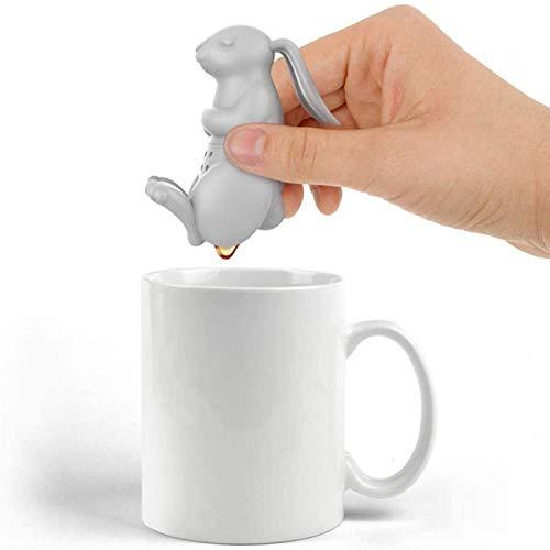 Alihoo Tee Infuser, 2-Stück Silikon teesieb teeei teefilter Tea Infuser teekugel, teefilter (2St.Hase)
