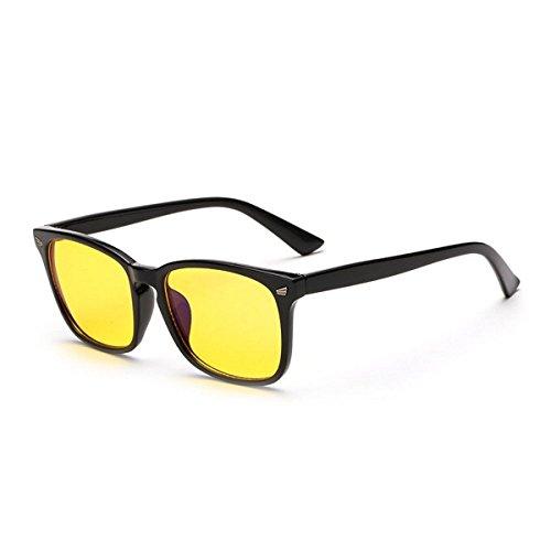 HOUSON Computer Gläser Anti Blaulicht Schutzbrille Gaming Brille Anti-Blendschutz, Anti-Reflektierend, Anti- Ermüdung blockierung uv Brillen kopfschmerzen, Anti augenbelastung (Gelb Linse)