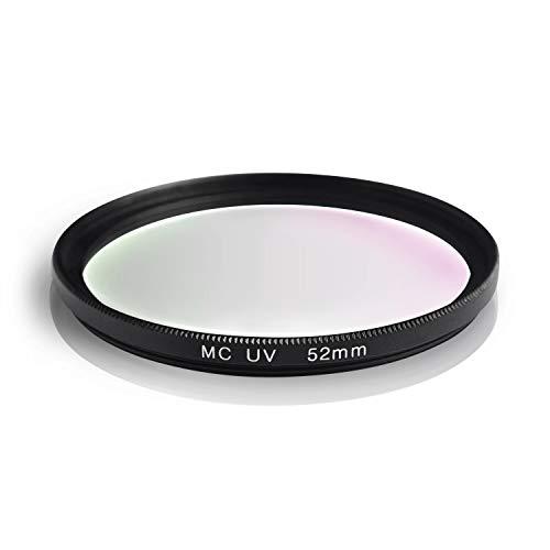 Filtro UV MC. Alluminio e vetro ottico. Idrorepellente e antigraffio. Per Canon Sony Nikon Leica Fujifilm Panasonic Pentax Sigma Tamron Pentax (52mm)