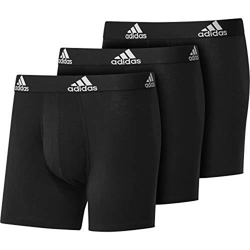adidas Bos Brief 3pp Herren-Boxershorts/Brief, Herren, GU8889, Schwarz, M