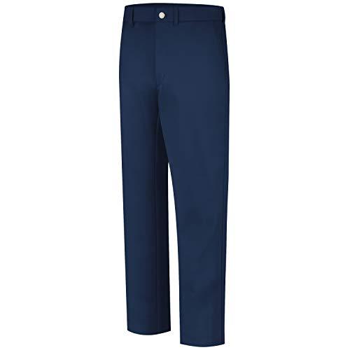Bulwark Men's Flame Resistant 9 oz Twill Cotton Work Pant, Navy, 48W x 30L