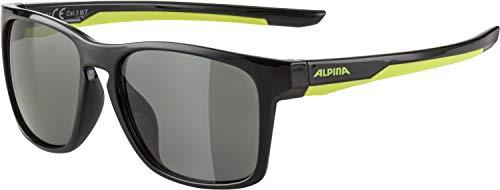ALPINA Unisex - Kinder, FLEXXY COOL KIDS I Sonnenbrille, black-neon yellow, One size
