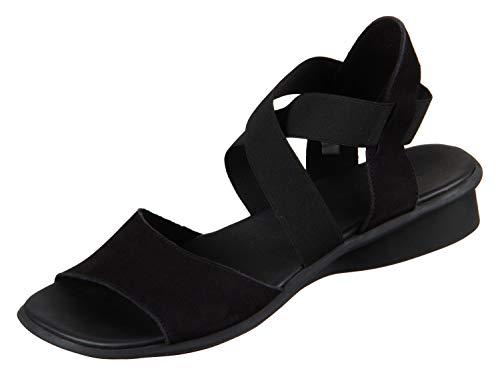 Arche SATIA 14H01SATIA*7200NOI01 Femmes Sandales, Noir 39 EU