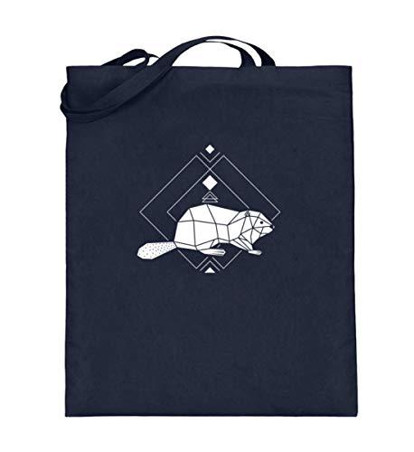 Sacchetto in cotone felpato Polygon Geometrie | roditori della foresta Low Poly, Blu (Blu (Deep Blue)), 38cm-42cm