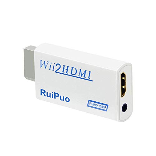 Wii to HDMI Converter Output Video Audio Adapter, with 3.5mm Audio Video Output Supports All Wii Display Modes, Best Compatibility and Stability for Nintendo (Wii to HDMI)