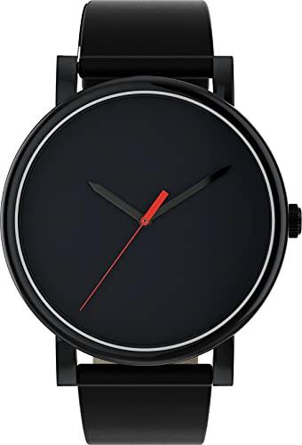 Timex Unisex T2N794D7 - Montre Quartz Analogique Bracelet Cuir Noir