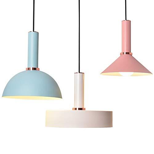 Luyshts Macaron restaurante café loft araña azul rosa blanco moderno simple luz cálida LED lámpara de techo decoración del hogar sala comedor
