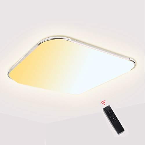 VINGO Deckenlampe Dimmbar mit Fernbedienung, 18W 1440lm LED Deckenleuchte 2700K-6500K, IP44 Wasserfest für Badezimmer, Wohnzimmer, Balkon, Flur Küche [Energieklasse A++]