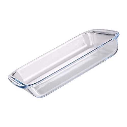 Angoily Plato de Vidrio para Hornear para Horno Cacerola Bandeja Rectangular para Hornear Resistente Al Calor Borosilicato Vidrio Ovenware Utensilios de Cocina de Vidrio 1.6L