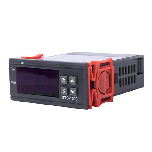 bobotron Termostato digital STC 1000 de 220 V con sensor de temperatura, termostato y sonda con sensor