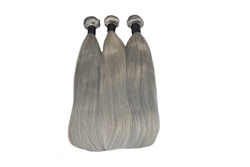 YanT HAIR Lot de 3 extensions de cheveux humains brésiliens vierges de qualité 6A - 3 trames - 30,5 cm, 35,6 cm, 35,6 cm, 35,6 cm, 35,6 cm - Couleur