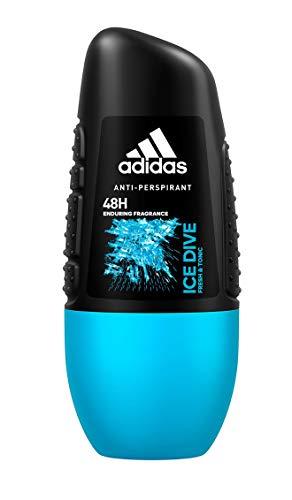 adidas Ice Dive Anti-Perspirant Deo Roll-on für Herren mit schweißhemmender Wirkung für bis zu 48h, 6er Pack (6 x 50 ml)