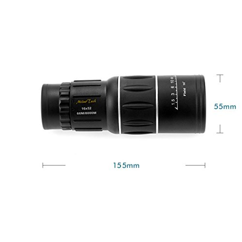 Miluo Tech 16x52 Dual Focus Monocular Telescope/Monocular Scope for Hunting, Camping, Surveillance
