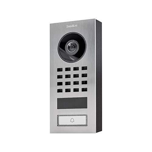 DoorBird Video-Türstation IP D1101V Aufputzmontage, Edelstahl V2A, gebürstet, Aufputzmontage POE Video-Türglocke D1101V-Aufputzmontage, Silber