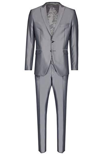 Wilvorst - Slim Line - Herren Anzug in Grau (Art.453202/26 Modell: 13352 724-2), Größe:48, Farbe:Grau (26)