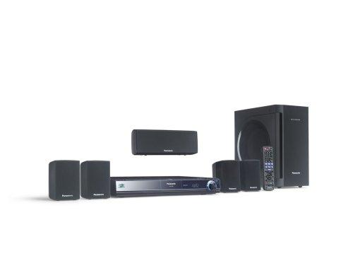 Panasonic SC BT 200 Heimkinosystem (Blu-ray Player, HDMI, DivX-zertifiziert, SD-Kartenslot, Apple iPodanschluss, USB 2.0) schwarz