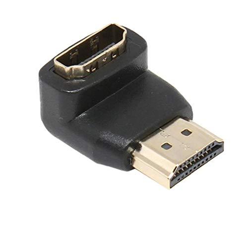 LAANCOO de Primera Calidad Chapado en Oro soportada HDMI 270 Grados Macho a Hembra Adaptador convertidor para Extender Usos día día Mopther de 1080P HDTVfor Valentine Invierno