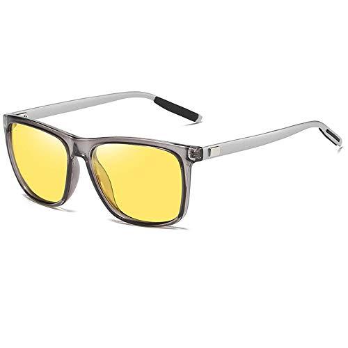NgMik Gafas De Sol Polarizadas Gafas de Sol polarizadas Gafas de visión Nocturna Mujeres Cuadrado Retro Anti-BLU-Ray de conducción Gafas de Sol Clásico (Color : Silver, Size : One Size)